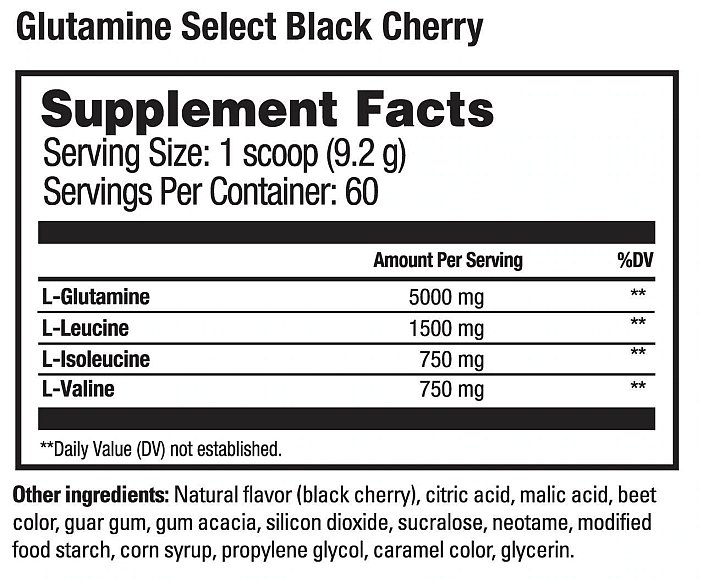 Glutamine_Select_Supp_Facts_blk_cherry.png